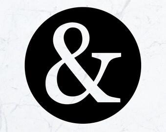 Ampersand Stickers