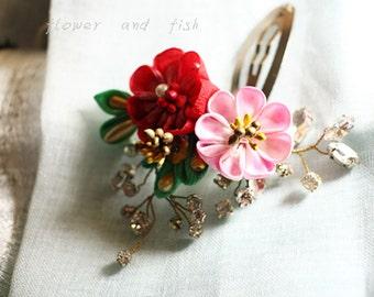 kanzashi-janpanese kanzashi-kanzashi flower-kanzashi hair clip--bridal hair flower