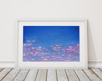 Floating Blossoms Print from Pastel Drawing