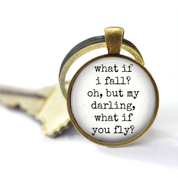 Moving Away Gift, What If You Fly, Be Brave, Gift For Women, Key Chain, You've Got This, Graduation, Gift For Her, Feather Keychain, Boho