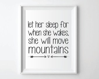 Let Her Sleep Quote