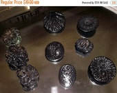 HOLIDAY SALE Vintage black mourning buttons 1910 celluloid buttons (9)