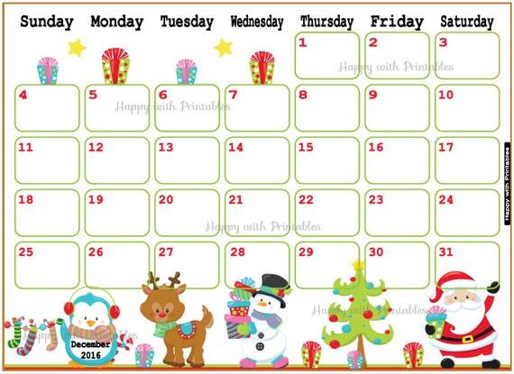 ... Planner - Christmas theme - Sheet goes Sun to Sat - Christmas planner