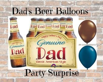 Fathers Day Dad Day Balloons Beer Mustache Fathers Day Balloons Beer Balloons