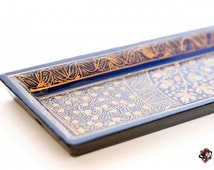 GOLD LEAVES - Hand Painted Incense Holders