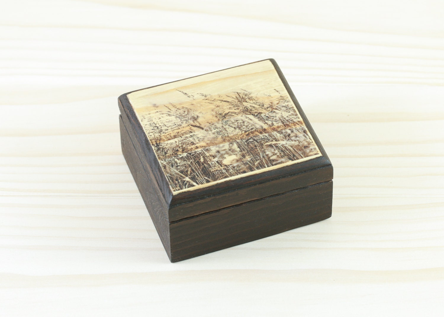 small wooden box rustic wood box gift box wooden jewelry. Black Bedroom Furniture Sets. Home Design Ideas