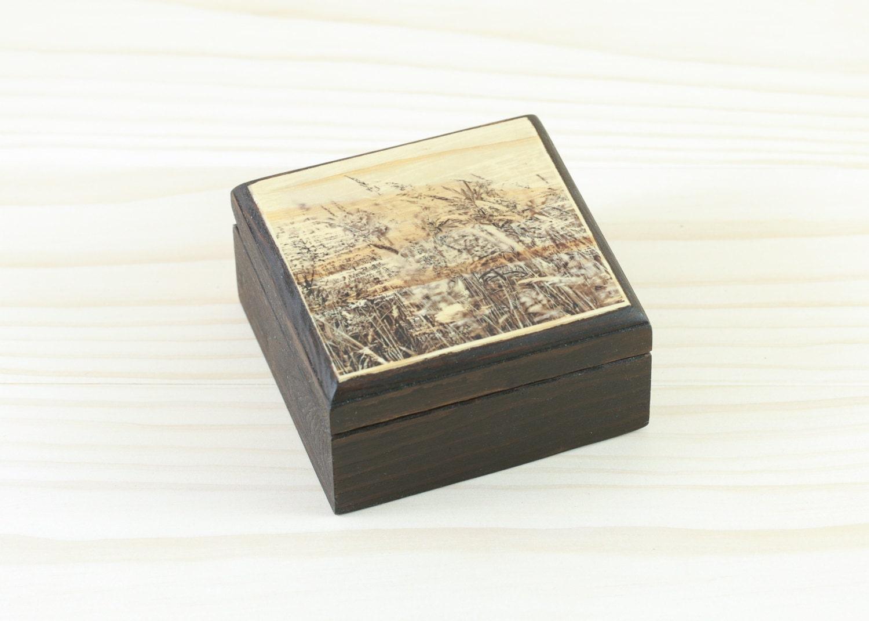Small wooden box rustic wood box gift box wooden jewelry - Small rustic wooden boxes ...
