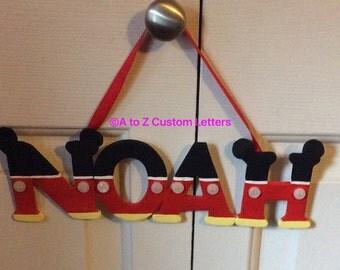 Disney Mickey name hanging
