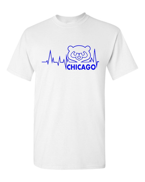 Items Similar To Custom Made Heartbeat Chicago Cubs Mens