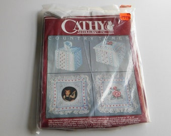 Candlewicking Embroidery Kit Country Tymes by Cathy Needlecraft Inc