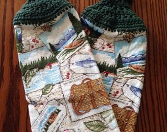 Northwoods Lake Fishing kitchen towels #12