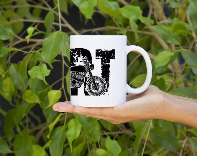 KillerBeeMoto:  U.S. Made Limited Release Japanese Engineered Motorcycle Dirt Bike Scrambler Coffee Mug (White)