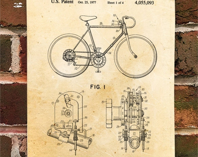 KillerBeeMoto: Duplicate of Original U.S. Patent For 10 Speed Bicycle