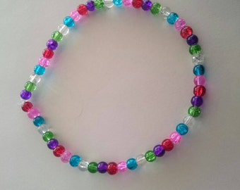 Multi coloured beaded bracelet