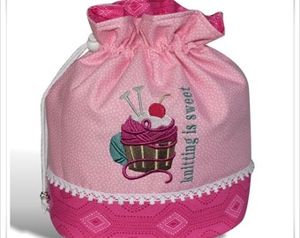 "Knitting Bag ""Knitting is sweet"""