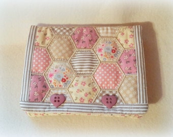 Patchwork purse of hexagons