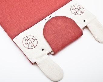 Red Linen iPad air 2 Case Bunny iPad Sleeve iPad pro 9.7 Case Custom iPad pro Case iPad Air Sleeve Galaxy Tab 4 Case ipad pro 12.9 case