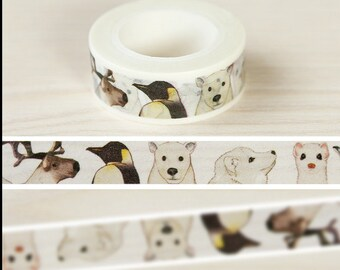 Animal world Washi Tape -- Japanese Washi Tape -Deco tape-- 15mm x10M