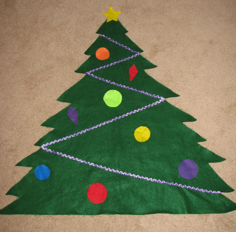 felt Christmas tree toddler Christmas tree by ...
