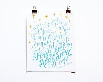 Stars Fell on Alabama Print, 8x10 print, Alabama Sayings Print