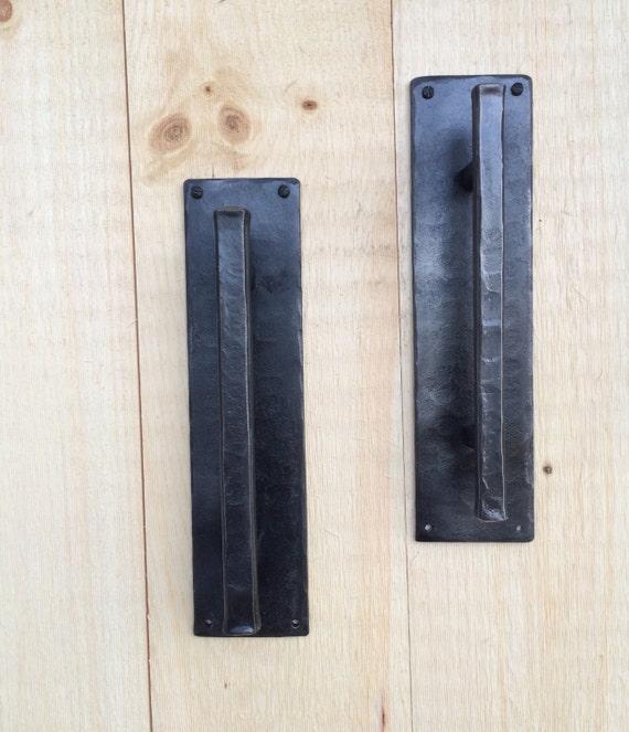 Rustic Barn Door Pull Handles: Hand Hammered Barn Door Pull Rustic Decor Door By