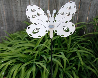 Medium Metal Butterfly Yard Stake