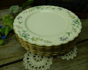 Set of 6 Vintage Noritake Brookhollow Dinner Plates