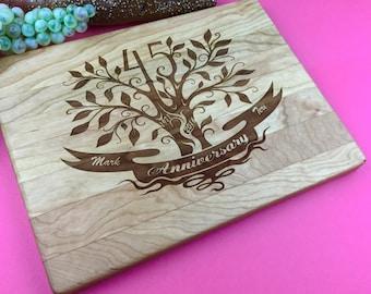 45th Anniversary Gift, 45th wedding anniversary gift for Parents, 45th Wedding Anniversary Gift Personalized / Engraved