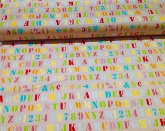Riley Blake cute Alphabet Fabric.......NEW off the Bolt