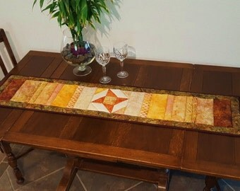 Sumptuous Brown and Gold Table Runner