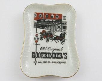 Vintage Old Original Bookbinder's (Philadelphia, PA) Porcelain Ashtray Trinket Dish