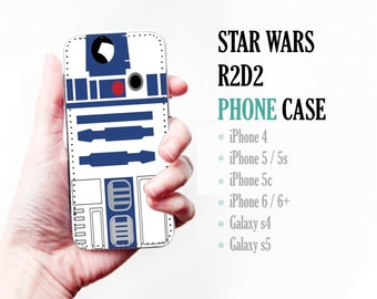 Star Wars R2D2 - iphone 6 + 4,5,c,s S4, S5 Leather Phone Cover Case Wallet Cards/I.D Space