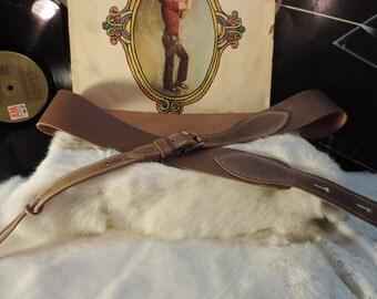 Banjo or Mandolyn handmade leather affordable strap