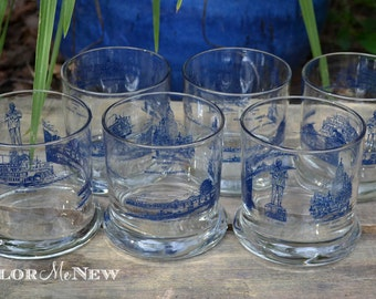 Memphis Scenes Old Fashioned Glass - Set of 6