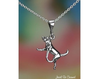 Sterling Silver Hound Beagle Harrier or Foxhound Necklace or Pendant