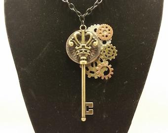 Steampunk key pendant
