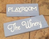 Playroom and winery wooden sign. House decor