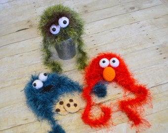 Cookie, Oscar or Elmo!  Newborn Hats/Photo Props