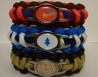 Gravity Falls Paracord Bracelets