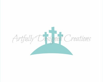 Calvary Cross Stencil