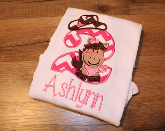 Cowgirl Horse Birthday Shirt!!