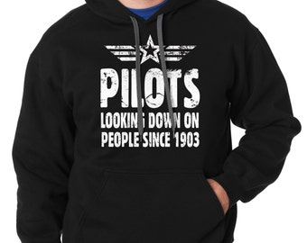 Gift For Pilot Hoodie Funny Occupation Hooded Sweatshirt