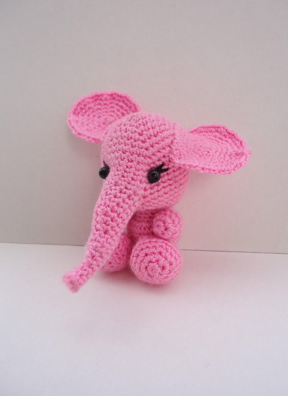 Knit Amigurumi Elephant : Pink elephant toy Knit toy Amigurumi Knit Baby toy Birthday