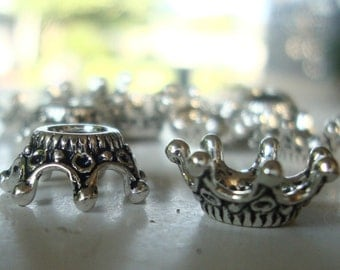 Crown Charms,Crown Bead Caps,Craft Show Economy Charms,1,5,10,20,50 pcs