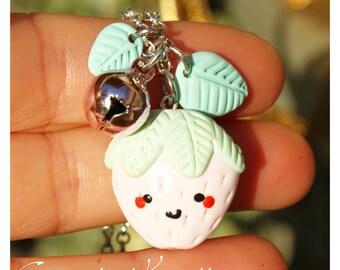 Pink Strawberry Kawaii Necklace