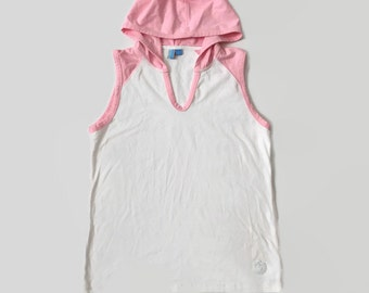 90s Pastel Pink Sleeveless Hooded Tank
