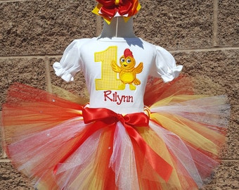 Chica Birthday Number Tutu -Personalized Birthday Tutu,Sizes 6m - 14/16 - Chica Party
