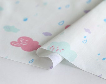 Cotton Polyester Fabric Cloud Pink By The Yard