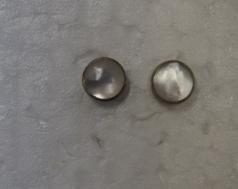 Sterling Silver White Circular Earrings