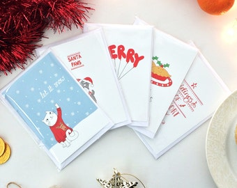 SALE! 10 x Christmas Cards (Variety Pack) - 2 of each design